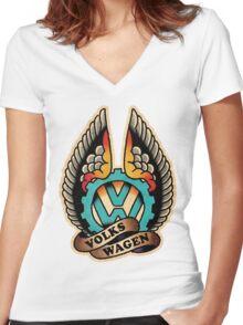 Vdub 11 Women's Fitted V-Neck T-Shirt