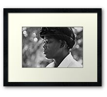 strength & humility - the jamaican woman. Framed Print
