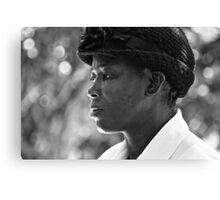 strength & humility - the jamaican woman. Canvas Print