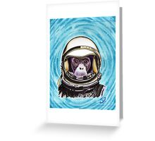Space Monkey Greeting Card