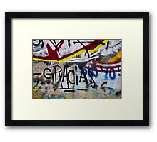 Abstract Graffiti Wall Art Photography - Gracias Framed Print