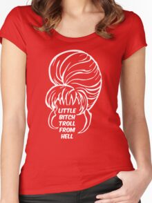 Little Bitch Troll From Hell 2 Women's Fitted Scoop T-Shirt