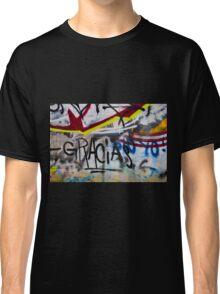 Abstract Graffiti Wall Art Photography - Gracias Classic T-Shirt