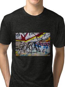 Abstract Graffiti Wall Art Photography - Gracias Tri-blend T-Shirt
