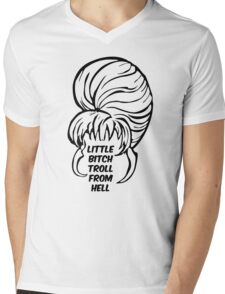 Little Bitch Troll From Hell 1 Mens V-Neck T-Shirt