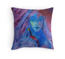 Young Hippie Throw Pillow