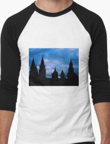 Churches against the sky in Santiago de Compostela Men's Baseball ¾ T-Shirt