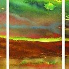 Abstract Landscape (triptych) by Les Sharpe