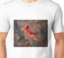Cardinal in a Snowstorm Unisex T-Shirt