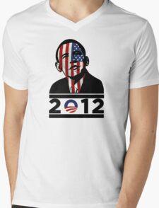 Obama 2012 Election American T-Shirt Mens V-Neck T-Shirt