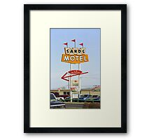 Route 66 Sands Motel Framed Print