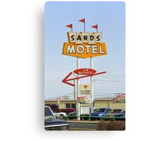 Route 66 Sands Motel Canvas Print