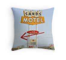 Route 66 Sands Motel Throw Pillow