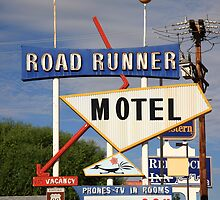 Route 66 - Road Runner Motel by Frank Romeo