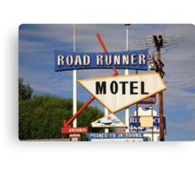 Route 66 - Road Runner Motel Canvas Print