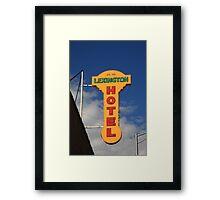 Route 66 - Lexington Hotel Framed Print