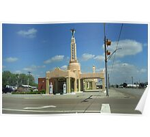 Route 66 - Conoco Tower Station Poster