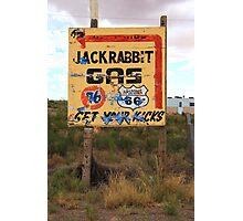 Route 66 - Jack Rabbit Trading Post Photographic Print