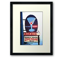 Route 66 - Williams, Arizona Bar Framed Print