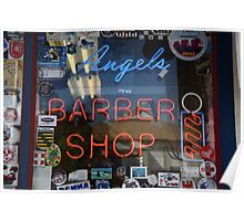 Route 66 - Angel's Barber Shop Poster
