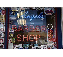 Route 66 - Angel's Barber Shop Photographic Print