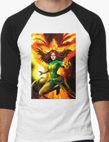 The Phoenix Jean Grey  Men's Baseball ¾ T-Shirt
