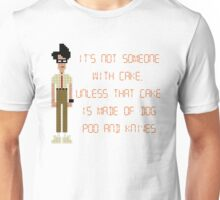 The IT Crowd – Dog Poo and Knives Cake Unisex T-Shirt