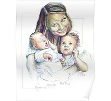 Mother and Children Equals Love Poster