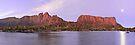 Labyrinth Moonrise, Lake St Clair National Park, Tasmania by Michael Boniwell