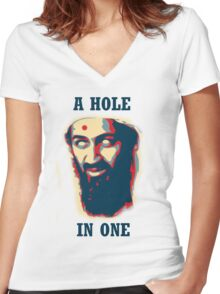 A Hole In One! Women's Fitted V-Neck T-Shirt