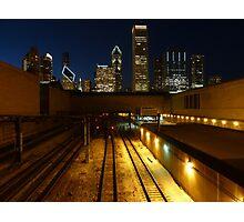 Chicago Night Skyline Photographic Print