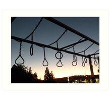Playground at Sunset Art Print