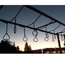 Playground at Sunset Photographic Print