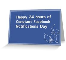 Happy Constant Facebook Notification Day Greeting Card