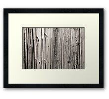 sepia wooden planks Framed Print