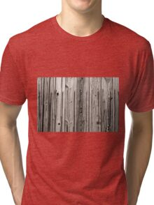 sepia wooden planks Tri-blend T-Shirt