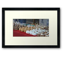 Gourmet caramel apples ... Framed Print