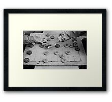 Placing two Pieces Framed Print