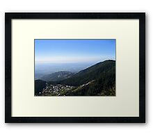 McLeodganj, Dharamkot and Triund Framed Print