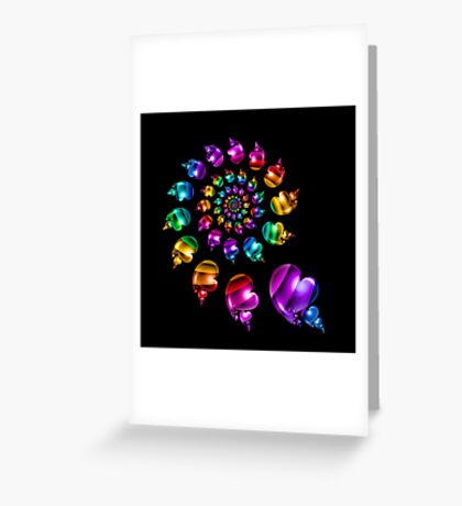 Rainbow Heart Wheel Greeting Card