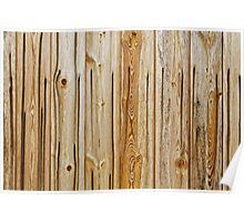 wooden planks pattern Poster