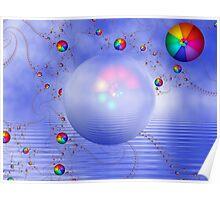 Rainbow Sphere on Blue Lake Poster