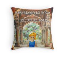 Impariamo lo yoga- I Saluti al Sole Throw Pillow