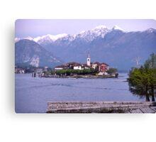 Isola dei Pescatori, Borromean Islands, Lake Maggiore, Italy. Canvas Print