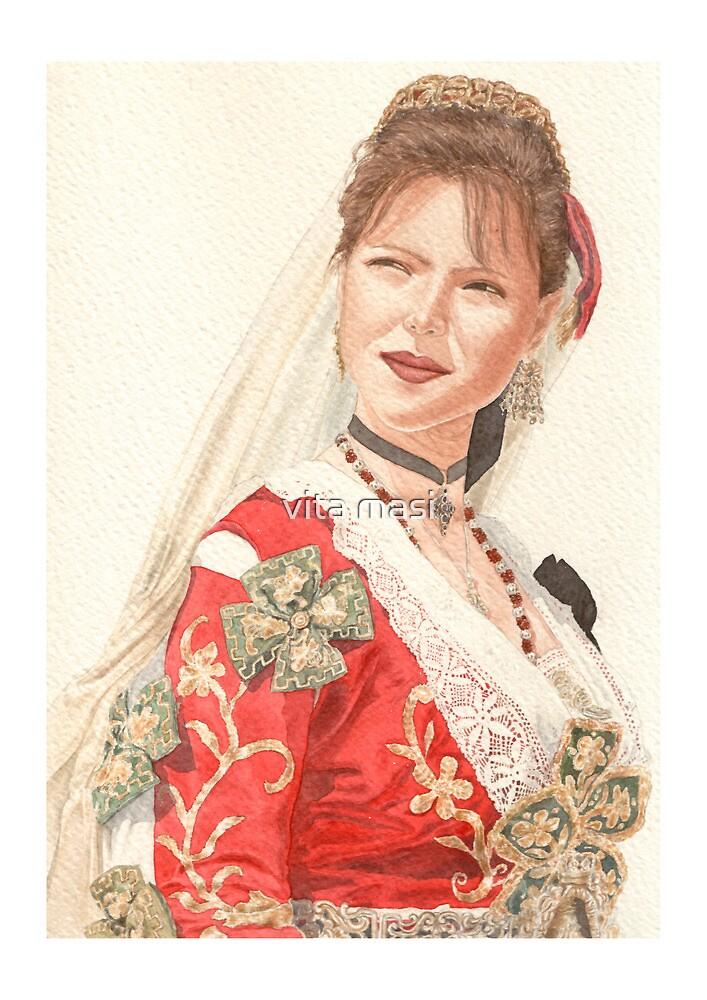 Albanian traditional Wedding Costume of Piana Degli Albanesi by vimasi