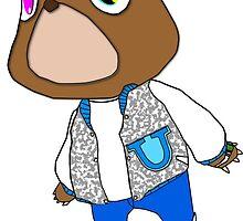 Kanye West Graudation Teddy Bear  by KuyaKoala