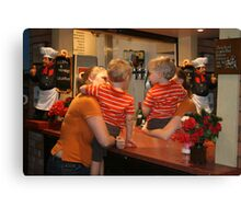 The boys at the bar.  Canvas Print