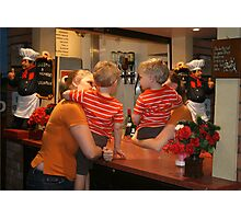 The boys at the bar.  Photographic Print