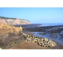 The Black, Lonely Beach, Robin Hood's Bay Photographic Print
