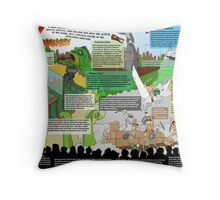 HarryHausen Infographic Throw Pillow